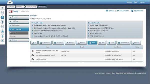 Cloud Asset Track Screen